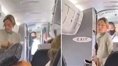 Hành khách không đeo khẩu trang phòng COVID-19 bị đuổi khỏi máy bay, cả khoang vỗ tay 'rần rần'