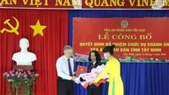 TAND tỉnh Tây Ninh có tân Chánh án
