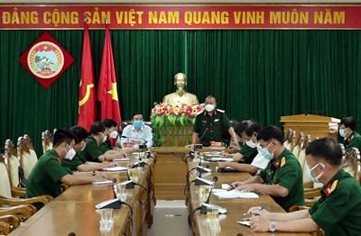 Quân khu 5 làm việc với đoàn công tác phòng, chống dịch Covid-19 của Bộ Quốc phòng và UBND thành phố Đà Nẵng