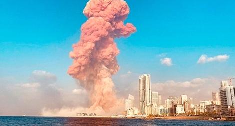 Nổ lớn như bom nguyên tử ở Lebanon, gần 80 người chết