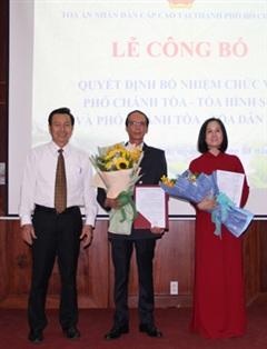 TAND cấp cao tại Tp Hồ Chí Minh trao quyết định bổ nhiệm lãnh đạo