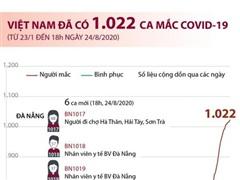[Infographics] Việt Nam đã ghi nhận 1.022 ca mắc COVID-19