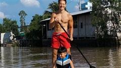 Kim Lý khoe khoảnh khắc vui chơi bên con trai Hồ Ngọc Hà, nhìn qua mới hiểu bé Subeo 'bám' bạn trai của mẹ thế nào