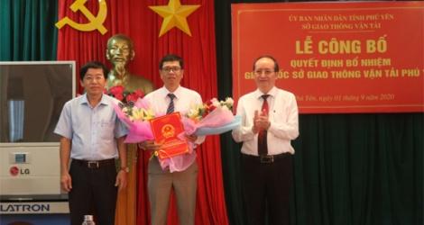 Phú Yên bổ nhiệm Giám đốc Sở Giao thông vận tải mới