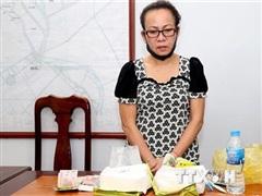 An Giang: Bắt quả tang một phụ nữ vận chuyển 2kg ma túy đá