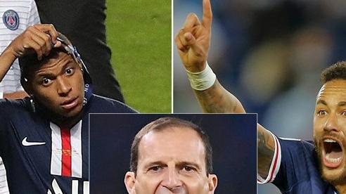 Mbappe và Neymar có vấn đề, PSG cầu cứu Allegri