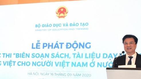 Thi biên soạn sách, tài liệu dạy và học tiếng Việt cho người Việt Nam ở nước ngoài