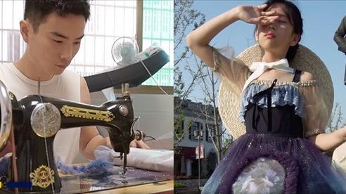 Cảm phục người cha tự tay may hơn 100 bộ váy cho con gái