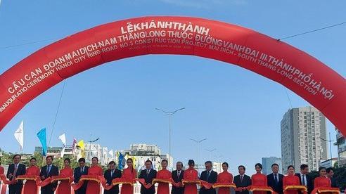Khánh thành cầu cạn Mai Dịch - Nam Thăng Long trị giá 5.343 tỉ đồng