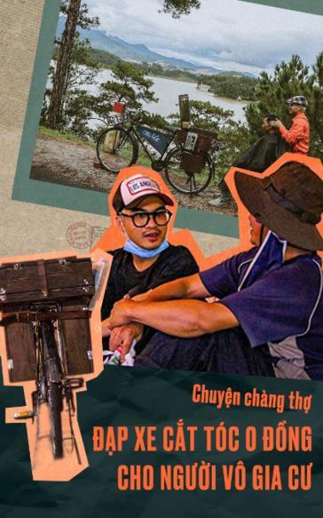 Chàng thợ đạp xe cắt tóc '0 đồng' cho người vô gia cư: 'Hãy mỉm cười vì đời còn bao điều tử tế'