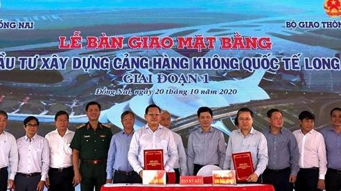 Bàn giao mặt bằng giai đoạn 1 dự án Cảng hàng không quốc tế Long Thành