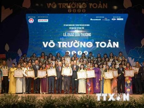 TP.HCM: Trao giải thưởng Võ Trường Toản cho 50 nhà giáo tiêu biểu