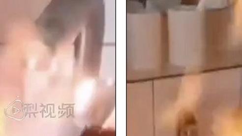 Nước sinh hoạt bốc cháy như xăng tại Trung Quốc