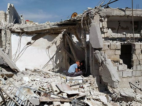 Israel không kích vào khu vực ngoại ô thủ đô Damascus của Syria