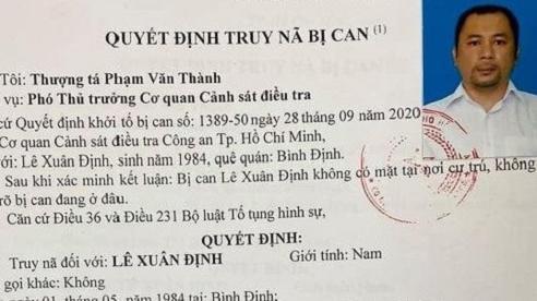 Truy nã Giám đốc công ty Khương Điền Lê Xuân Định