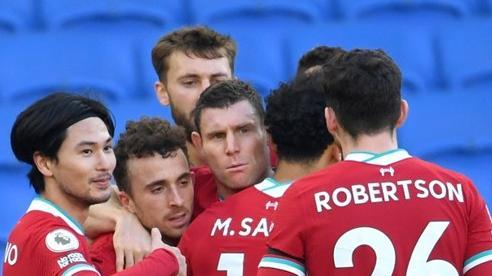 Liverpool bị Brighton chia điểm phút cuối