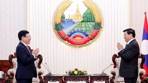 Phó Thủ tướng Phạm Bình Minh thăm và chào xã giao lãnh đạo cấp cao Lào