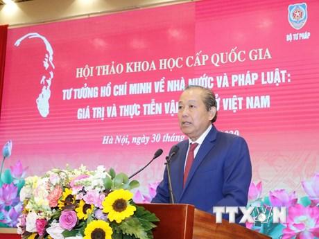 Vận dụng sáng tạo tư tưởng Hồ Chí Minh để xây dựng Nhà nước pháp quyền