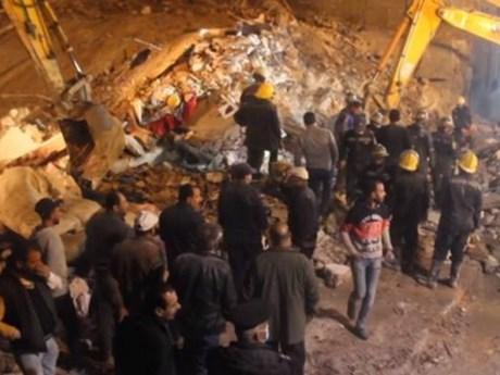 Sập nhà chung cư tại Ai Cập, ít nhất 6 người thiệt mạng
