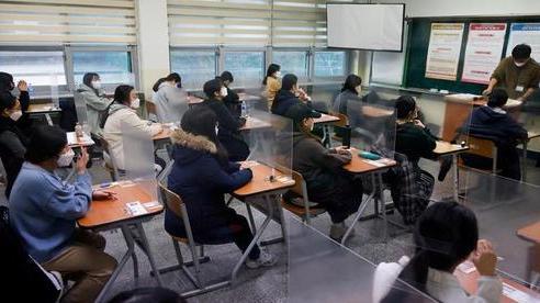 Nửa triệu học sinh Hàn Quốc thi đại học