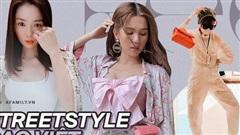 Street style sao Việt: Ngọc Trinh lộ chân gân guốc, 'chị đại' Lệ Quyên eo bé đến mức như 'bơi' trong váy
