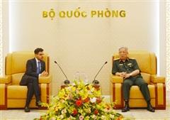 Thượng tướng Nguyễn Chí Vịnh tiếp Đại sứ Ấn Độ tại Việt Nam