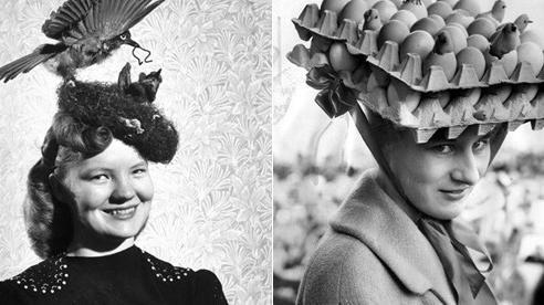 Những bức ảnh đen trắng kỳ lạ cho thấy phụ nữ thời xưa có thể đội bất cứ thứ gì lên đầu để làm đẹp, tổ chim cũng thành 'cực phẩm'