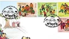 Bộ TT&TT phát hành bộ tem bưu chính 'Trò chơi dân gian'