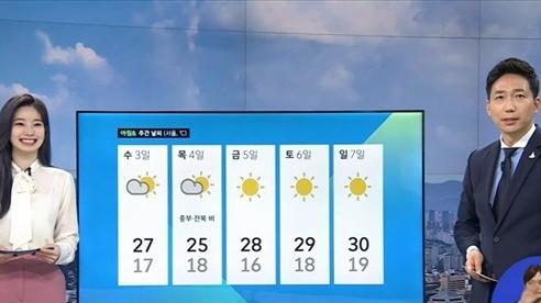 Dahyun của TWICE bất ngờ dẫn bản tin thời tiết