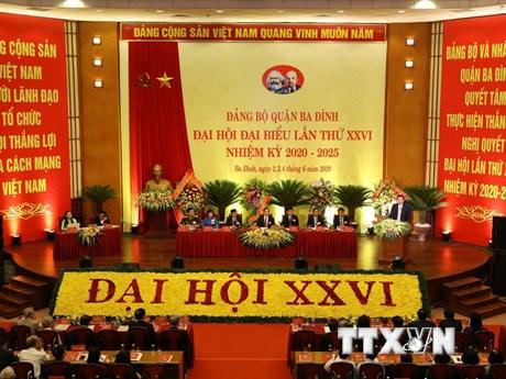 Đại hội Đảng quận Ba Đình - đại hội điểm cấp quận đầu tiên của Hà Nội