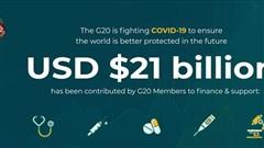 Đối phó với đại dịch Covid-19, G20 cam kết hỗ trợ hơn 21 tỷ USD