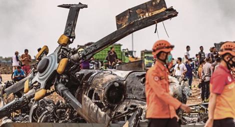Rơi máy bay quân sự, 9 người thương vong