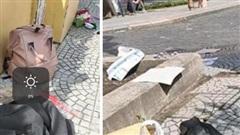 Ngán ngẩm cảnh học trò xả rác bừa bãi, vứt sách vở, quần áo ngổn ngang khi chụp kỷ yếu