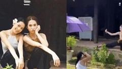 Chi Pu trong MV hi sinh giúp đỡ 'chính thất' Ngọc Trinh thế nào, thì ngoài đời cũng ra sức chụp ảnh có tâm cho pha tạo dáng 'hết hồn' của cô chị như thế!