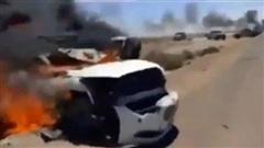 LNA điều 'sát thủ' MiG-29 không kích thiêu rụi đoàn xe quân sự do Thổ Nhĩ Kỳ hậu thuẫn