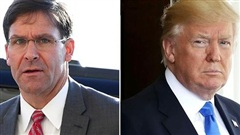 Biểu tình ở Mỹ: Tổng thống Trump có ý định cách chức Bộ trưởng Quốc phòng M. Esper