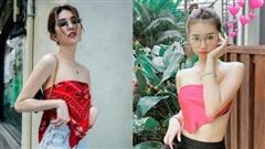Amee, Ngọc Trinh liều lĩnh quấn khăn làm áo và 1001 bài học thời trang thú vị