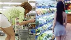 Đi siêu thị mua đồ mà cũng diện váy khoét nọ xẻ kia, những bộ cánh của chị em khiến các anh em phải... câm nín