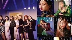 TWICE quyến rũ 'chết người' trên tạp chí Harper's Bazaar