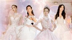Tiểu Vy - Lương Thùy Linh đẹp 'mê hồn' với váy cưới, Hoàng Thùy làm cô dâu vẫn thần thái 'đỉnh'