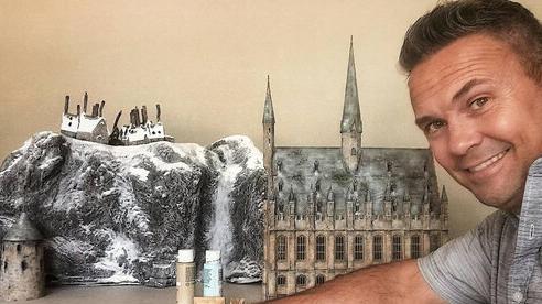 Đam mê Harry Potter, fan cuồng tự tạo ra mô hình thế giới phù thủy độc nhất vô nhị