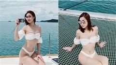 Fan trầm trồ ngắm Đỗ Mỹ Linh thả dáng siêu chuẩn, khoe làn da trắng ngần với bikini 2 mảnh