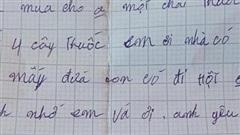 Xúc động bức thư nguệch ngoạc của người cha đi biển xa nhà gửi về cho gia đình