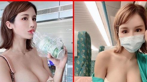 Hot girl kiêm mẫu nội y đình đám diện trang phục táo bạo ở sân bay khiến fan lo lắng