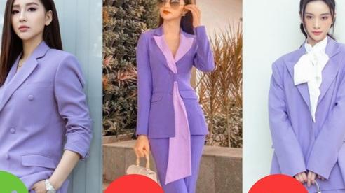 Sao Việt khi diện suit tím hot trend: Người đẹp tinh tế, người sến sẩm; nàng công sở xem cũng rút được khối kinh nghiệm