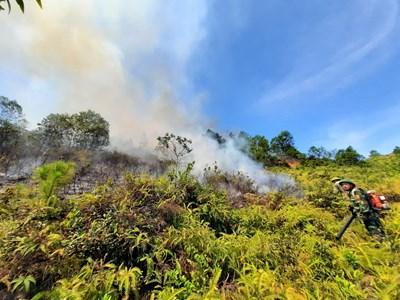 Đám cháy thứ 2 tại Hà Tĩnh bùng phát, các lực lượng khẩn trương dập lửa