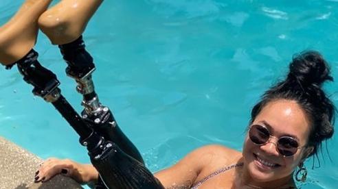 Mất 2 chi dưới gối, cô gái gốc Việt vẫn trở thành vận động viên bơi lội ở Mỹ
