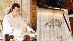 Cười mệt với hậu trường cảnh viết thư pháp của dàn sao Cbiz: 'Trùm vẽ bậy' gọi tên Lâm Canh Tân!