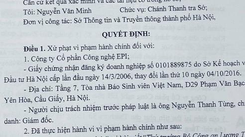 Bị phạt 25 triệu đồng vì đưa tin sai sự thật về Thứ trưởng Công an Lương Tam Quang