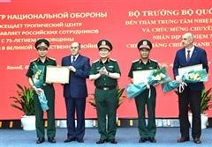 Đại tướng Ngô Xuân Lịch thăm, làm việc với Trung tâm Nhiệt đới Việt – Nga